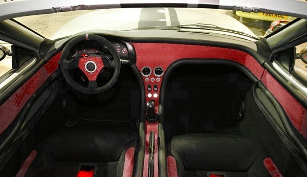Photoshop of my future Murtaya Interior: Left Hand Drive, Red/Crimson on Black, No Radio (Navigation Possibility in the Future).