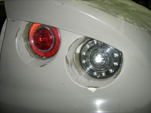 Right hand rear lights trial fitted.