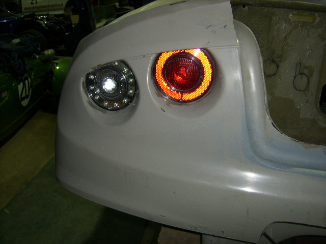 Left hand side rear lights trial fitted